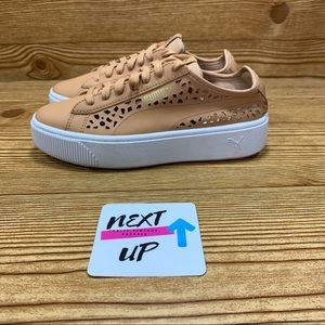 Puma Vikky Stacked Laser Cut Color Toast Sneaker 6